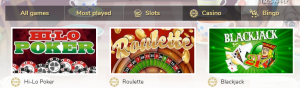 pocketwin casino table games