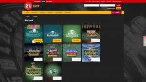 21Bet Casino screenshot casino blackjack