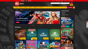 21Bet Casino screenshot casino games