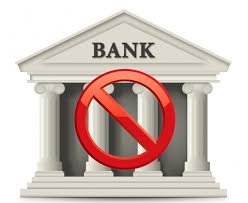 Bank With No Entry Sign