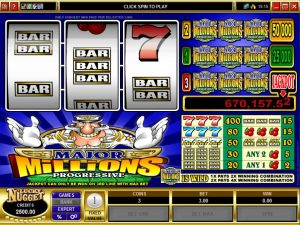 major millions progressive jackpot slot