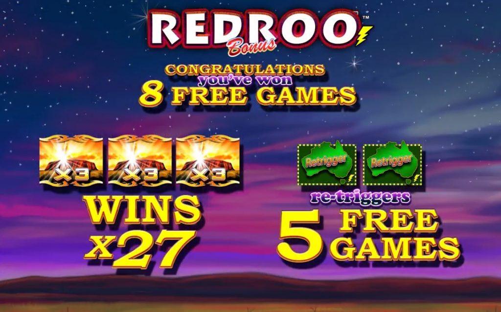 Redroo Bonus Feature Win