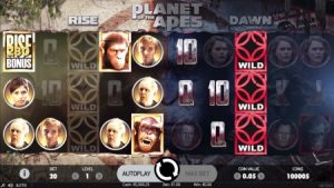 planet of the apes netent slot screenshot