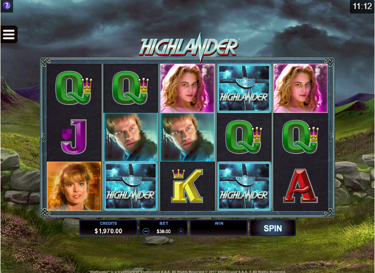 Highlander Slot by Microgaming Screenshot