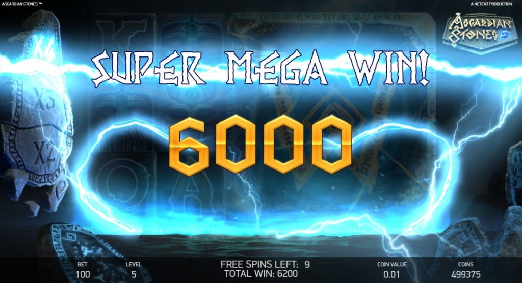 asgardian stones slot big win